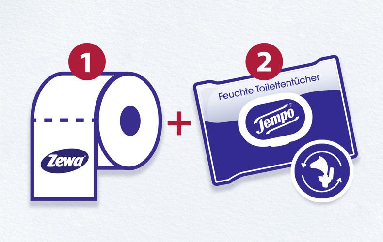 Kombiniere trockenes und feuchtes Toilettenpapier für bessere Sauberkeit