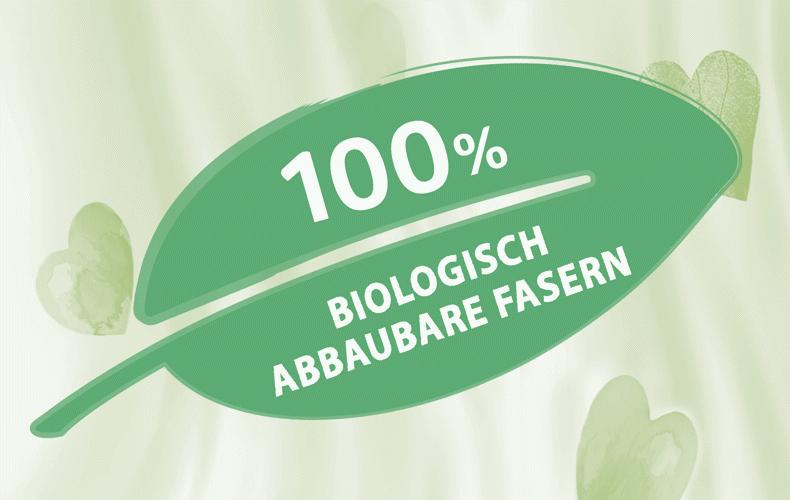 100% biologisch abbaubare Tücher
