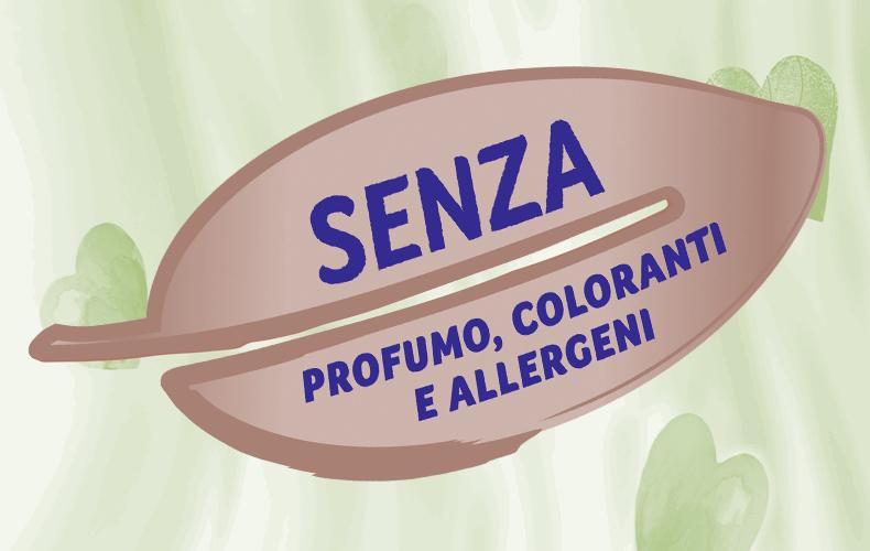 Privi di profumi, coloranti o allergeni**.