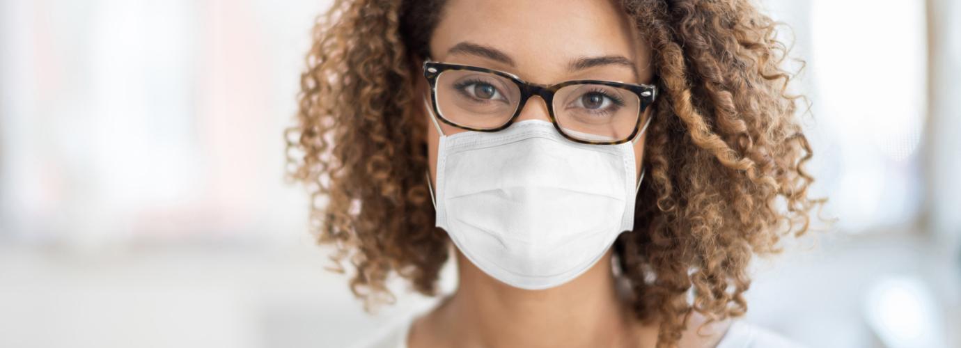 Mundschutzmaske richtig tragen