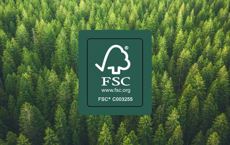 Materiali di provenienza sostenibile