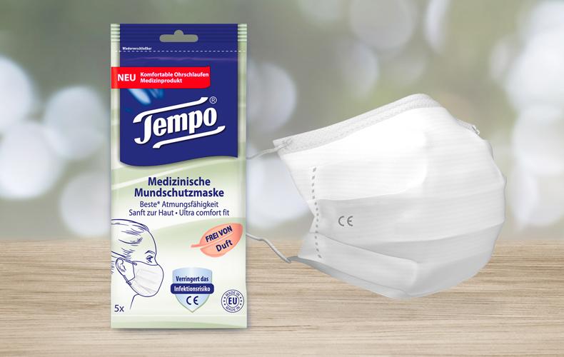 Tempo medizinische Mundschutzmaske